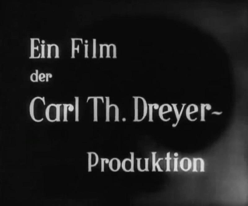crédit Carl Th. Dreyer