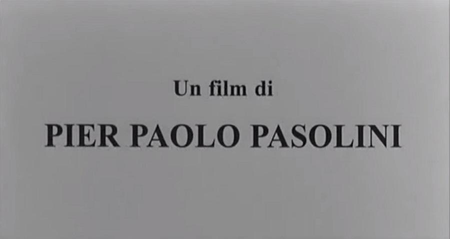 crédit Pier Paolo Pasolini